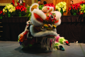 UIW's Lion Dance Team performs at the 2014 Light the Way event.
